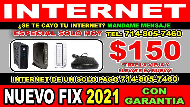 REPARACION DE INTERNET CAIDOS Y NUEVA INSTALACION PROGRAMACION NUEVA